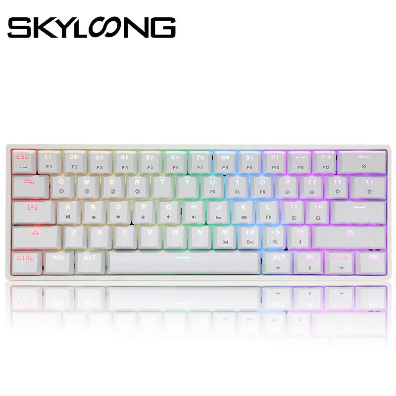 Permalink to SKYLOONG GK61 61 Keys Gaming Mechanical Keyboard USB Wired RGB Backlit Gamer Mechanical Keyboard For Desktop Tablet Laptop SK61
