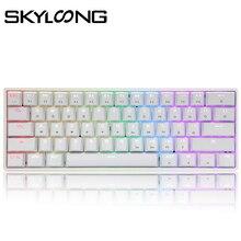 Игровая механическая клавиатура SKYLOONG GK61, USB Проводная игровая клавиатура с RGB-подсветкой для настольного ПК, планшета, ноутбука, SK61, 61