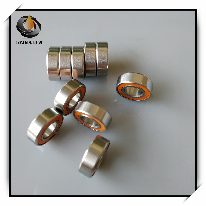 1Pcs  SMR126 2RS CB 6x12x4 Mm ABEC7 MR126 CB  6x12x4mm Fishing Vessel Bearing Stainless Steel Hybrid Ceramic Bearing 6x12x4