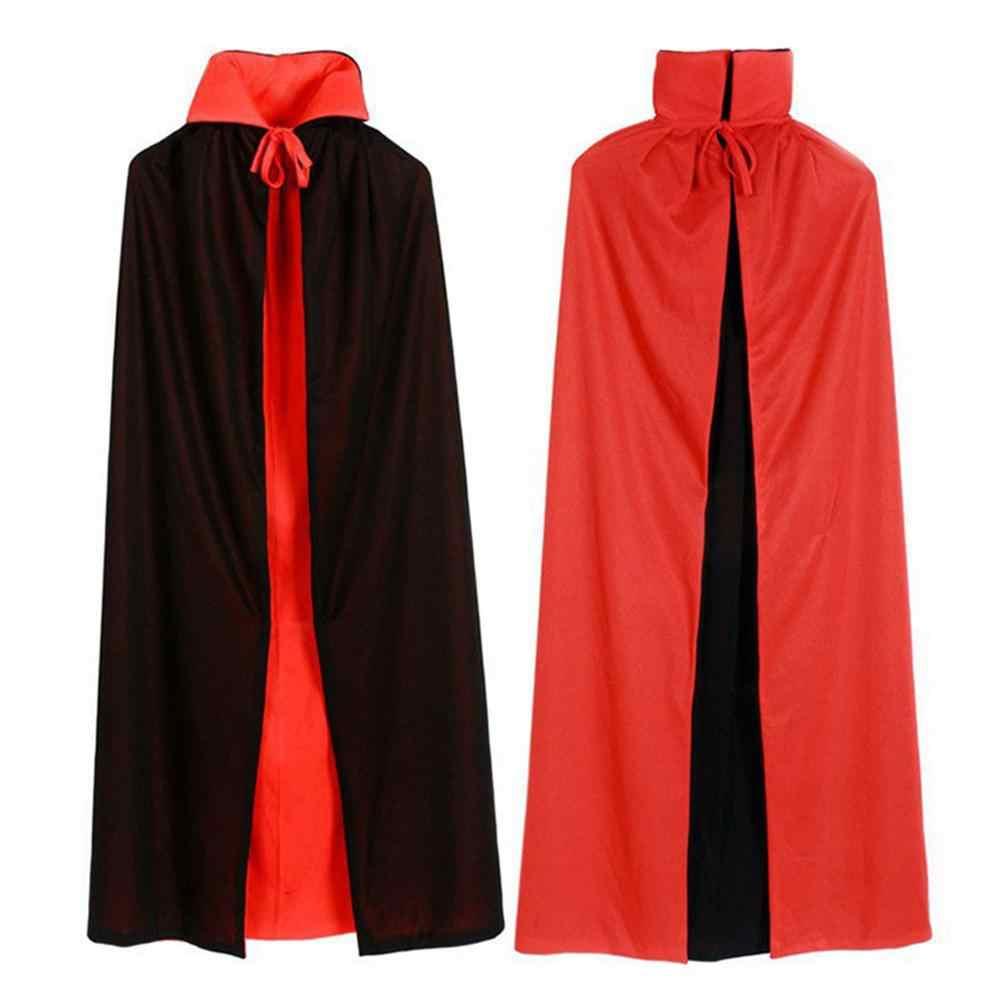 Anak-anak Halloween Cape Iblis Setan Bolak Balik Jubah Kostum