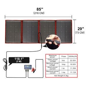 Image 5 - Dokio柔軟な折りたたみ200ワット (50Wx4) モノラルソーラーパネルハイパワーポータブルrv & ボート & 旅行ソーラーパネル中国