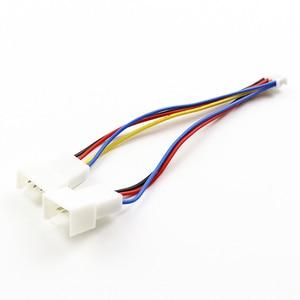 Image 2 - סיטונאי 100Pcs מחשב כרטיס גרפי לוח האם PWM PH2.0 4Pin כדי הכפול 2x4Pin מאוורר מתאם כבל מחבר 1 כדי 2 Y ספליטר כבל
