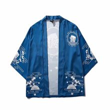 Traditional amurai Japanese Style Kimono Haori Men Women Cardigan Chinese Dragon Traditional Japanese Clothing Asian Clothes(China)