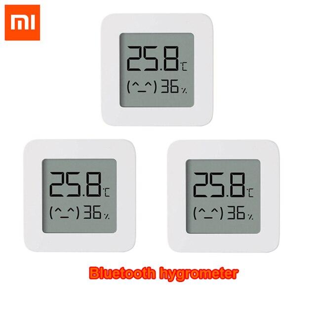 Termômetro digital xiaomi mijia 2 sem fio, o mais novo termômetro elétrico inteligente e digital, funciona com o aplicativo mijia