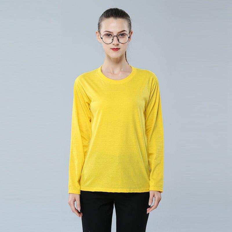 Yellow Top Plus Size Fall Shirts for Women Long Sleeve Custom Tshirt England Clothes Casual Moto Girls Tees Dropshipping T Shirt