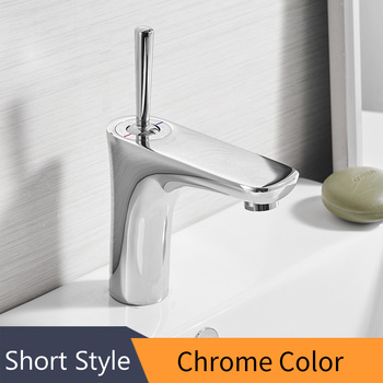 Basin Faucets Bathroom Sink Faucet Deck Mounted Hot Cold Water Basin Mixer Taps Polished Chrome Lavatory Sink Tap 855007 8