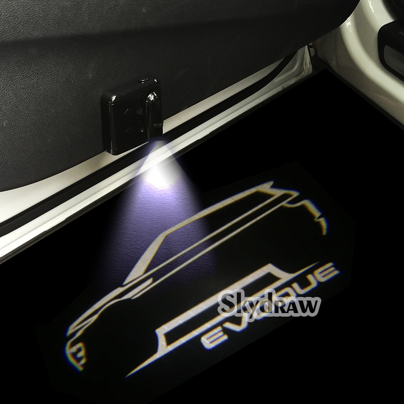 1 Pair For LAND ROVER RANGE ROVER EVOQUE (2012-2019) Car LED Door Welcome Light Projector Ghost Shadow Light Sticker Style