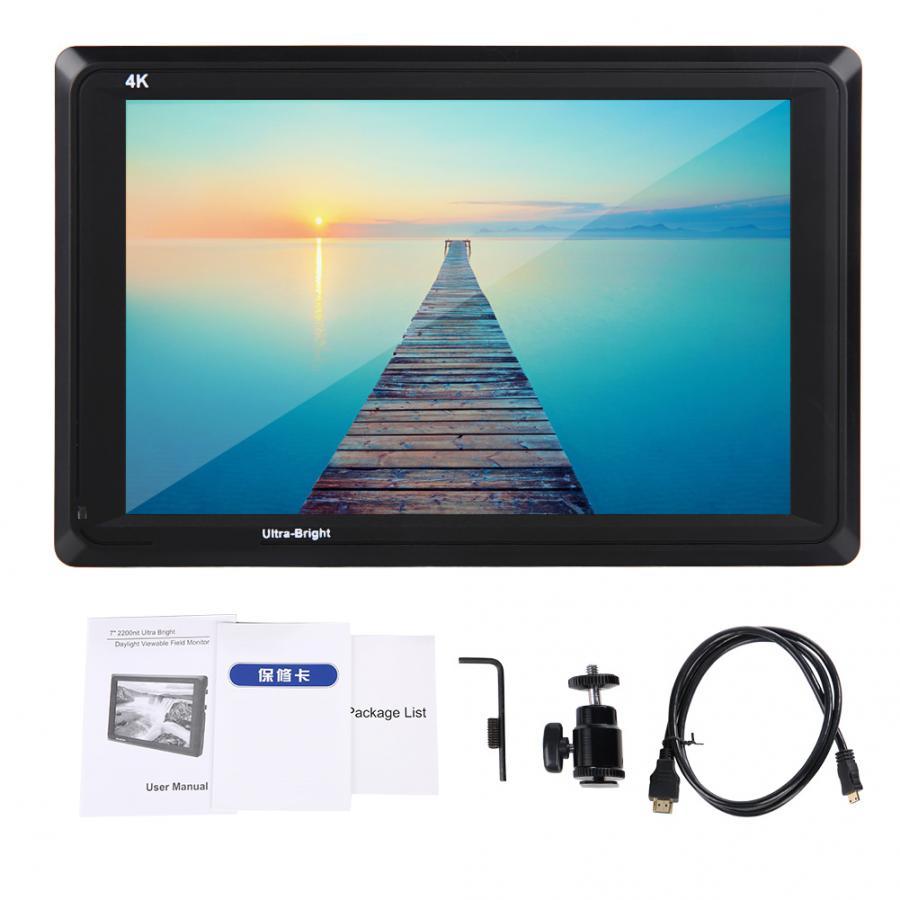 "Feelworld FW279S 7/"" 2200nit Ultra Bright 3G SDI 4K HDMI Camera Monitor For Cam"