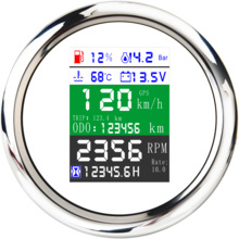 GPS Speedometer Boat Digital-Gauge Alarm 85mm Waterproof for Car Truck 6-In-1/multi-Functional