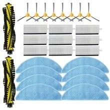 27 шт. вакуумного Запчасти Замена для Neatsvor X500 аксессуары для робота-пылесоса комплект основная щетка боковая щетка фильтр Насадка для швабры