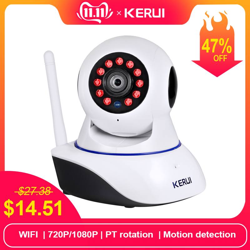 KERUI 720P 1080p HD Wifi Wireless Home Security IP Kamera Keselamatan Rangkaian Kamera Pengawasan CCTV IR Night Vision Monitor Bayi
