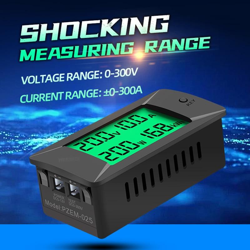 PZEM-025 Nieuwste 0-300V 100A Shunt Bulit Dc Digitale Batterij Tester Bidirectionele Ampèremeter Voltmeter Power Energy watt Meter 5
