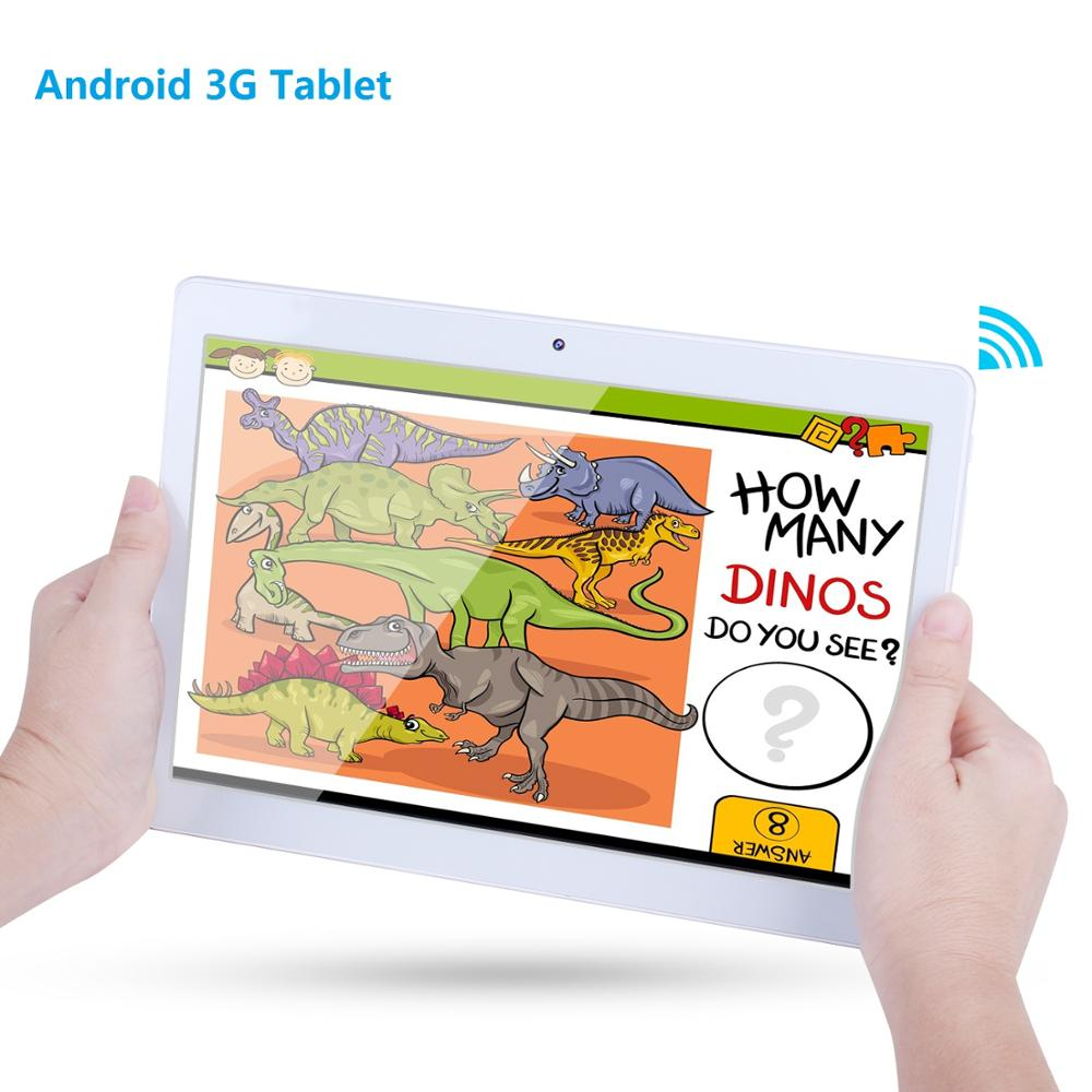 KMAX 10 inch 3G Phone Call Android Tablet PC IPS LCD 2 SIM Card 4GB+32GB Quad Core Phablet GPS Tablets 10.1 for children