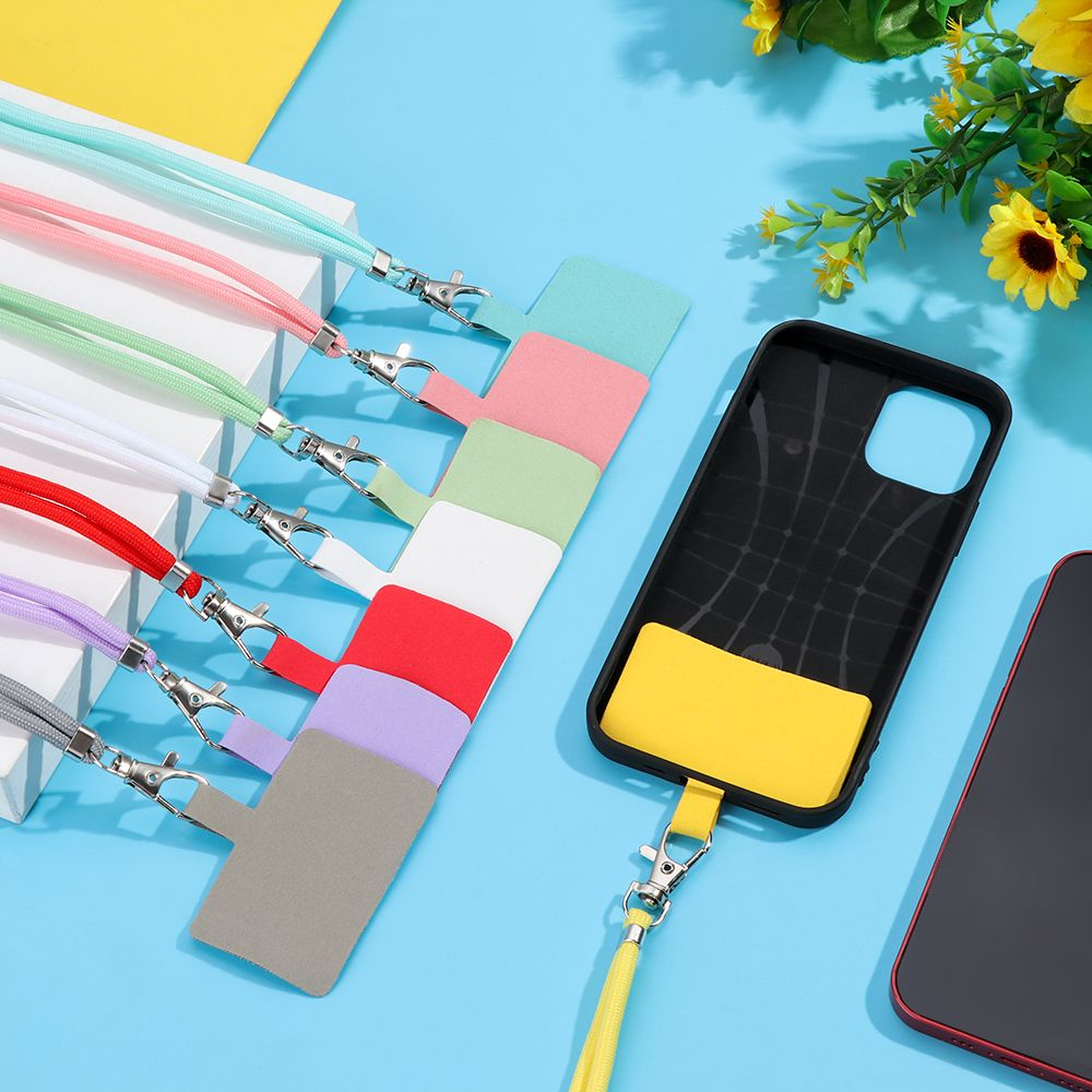 Universal Phone Lanyard Adjustable Detachable Colorful Neck Cord Anti-lost Lanyard Strap Phone Safety Tether Keychain Chain Rope