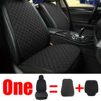 1 Protetor Tampa Do Assento Da Frente Para Trás Do Assento de Carro Almofada de Linho Mat Pad com Encosto para Auto interior Automotivo Caminhão suv ou Van