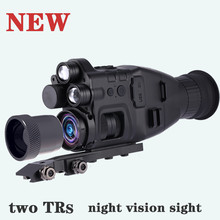 New Two IRs Digital Night Vision Scope Sight Hunting Rangefinder Telescope Telephoto HD Video Recording Thermal Imaging
