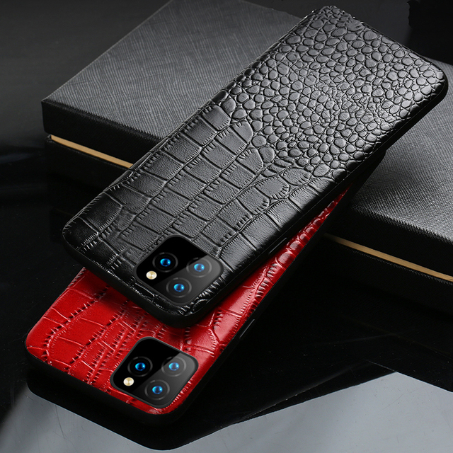 LANGSIDI Genuine Leather phone case for iphone 11 pro max Luxury Shockproof cover for Apple iphone XR X 8 7 6s XS Plus Fundas 1