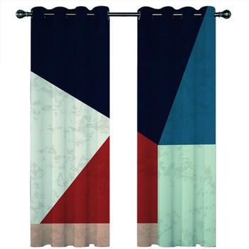 custom home goods curtains Abstract minimali Blackout window curtains Living room bedroom kitchen kids room luxury silk curtains