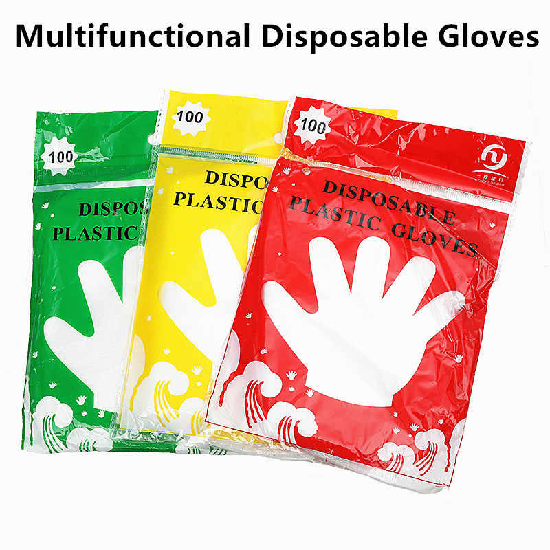 100PCS/Pack Food Grade Disposable Gloves Fruit Vegetable Gloves Baking Gloves Cleaning Gloves Restaurant Eco-friendly Food Glove