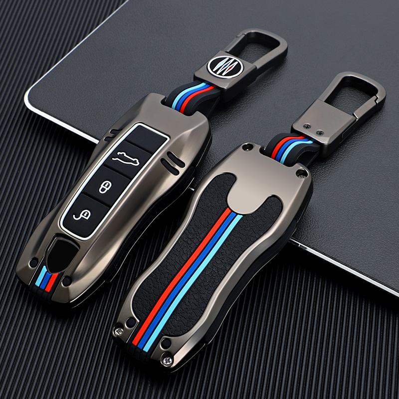 Keychain Car Key Case Key Cover Shell for Porsche Panamera Macan Cayenne Carrera Boxster Cayman 911 970 981 991 918 Accessoires