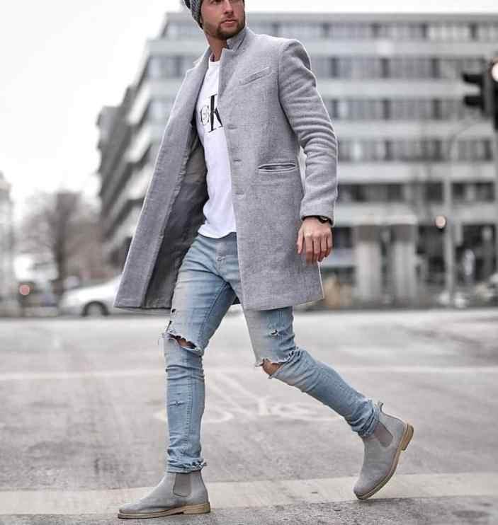 2020 осенне-зимний Тренч мужская верхняя одежда тренд модного бутика средней длины пальто горячая Распродажа шерстяное