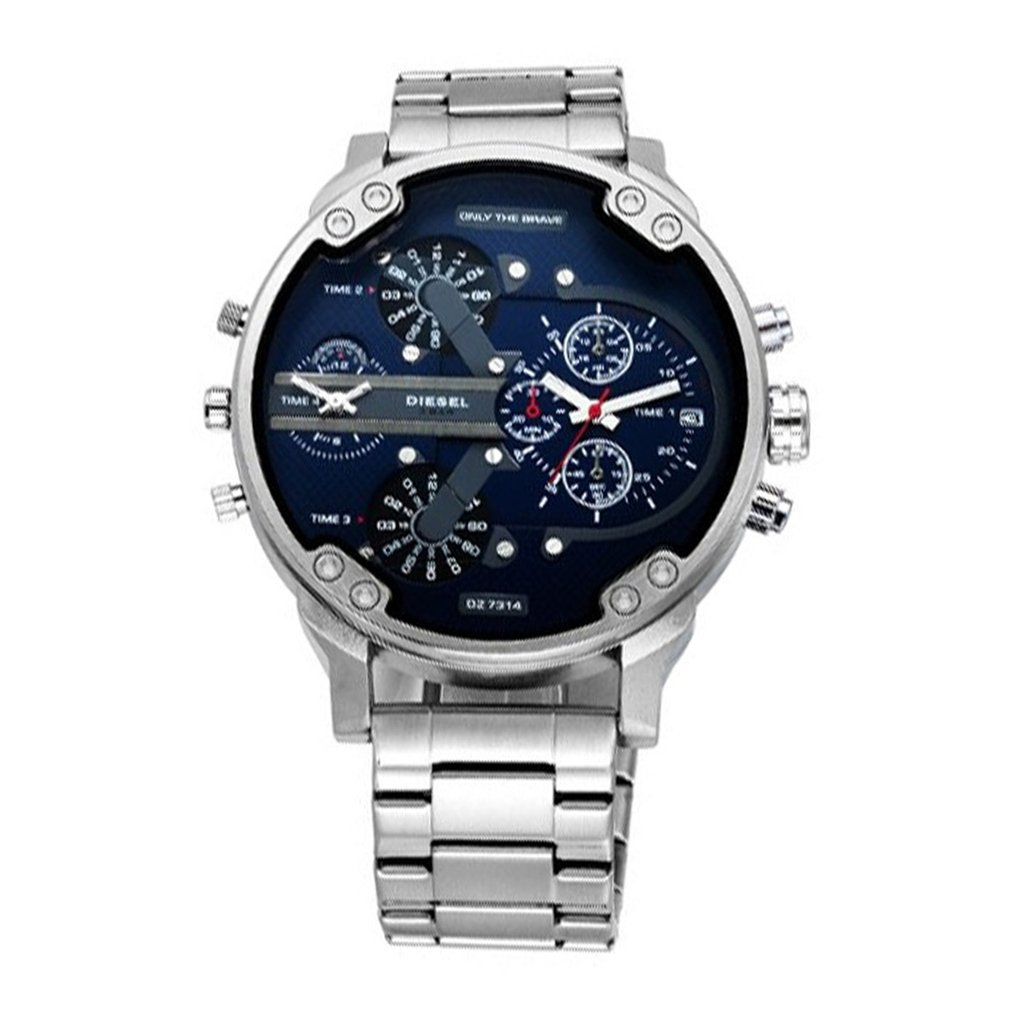 Men's <font><b>Watches</b></font> Stainless Steel Analog Quartz Wrist <font><b>Watch</b></font> Bracelet Men <font><b>Watches</b></font> Automatic Mechanical Clock image