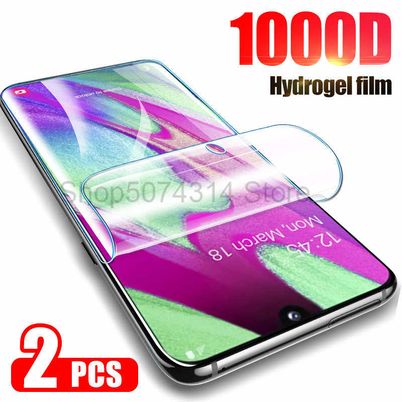 2Pcs Hydrogel Film Screen Protector Voor Samsung Galaxy S8 S9 S10e S10 Plus Voor Samsung A71 A40 A50 A51 a10 Note 10 Plus Film