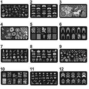 Small Airbrush Tattoo Stencils Nail Art Printing Image Polish Stamp Plate Scraper Stamper Manicure DIY Template Beauty & Health
