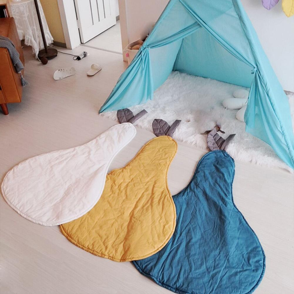 Cute Pear Shaped Baby Comfortable Toddler Soft Cotton Play Carpet Crawling Mat Room Decoration