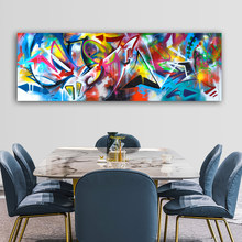 WANGART larger size colorful abstract wall art Poster Canvas Wall Pictures for Living Room Posters and Prints Home Decor