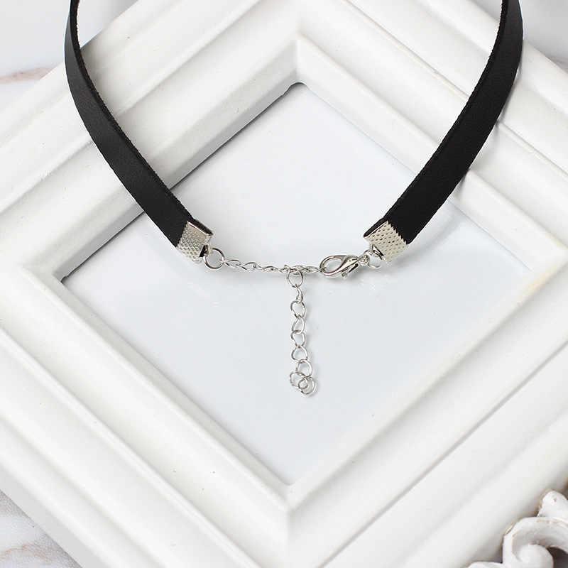 Simple noir Punk collier ras du cou pour les femmes gothique en cuir Chokers colliers populaire parti déclaration collier bijoux