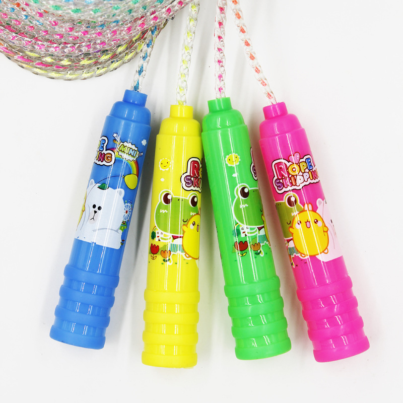 Children Young STUDENT'S Cartoon Jump Rope Single Person Fitness Profession Game Kindergarten Tiaoshen Short Rope