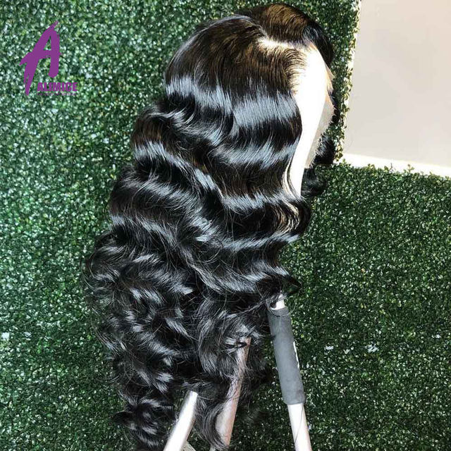 13x4 Loose Wave Lace Front Human Hair Wig 150 180 200% Brazilian Hair Lace Front Wig Preplucked Natural Hairline Alimice Remy (4)