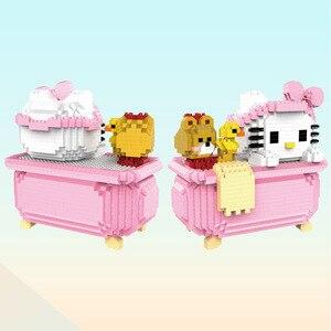 Image 3 - マイクロhcマジックブロック漫画ビルのおもちゃアニメ猫モデルbrinquedosオークションフィギュアのおもちゃ子供のギフト9070