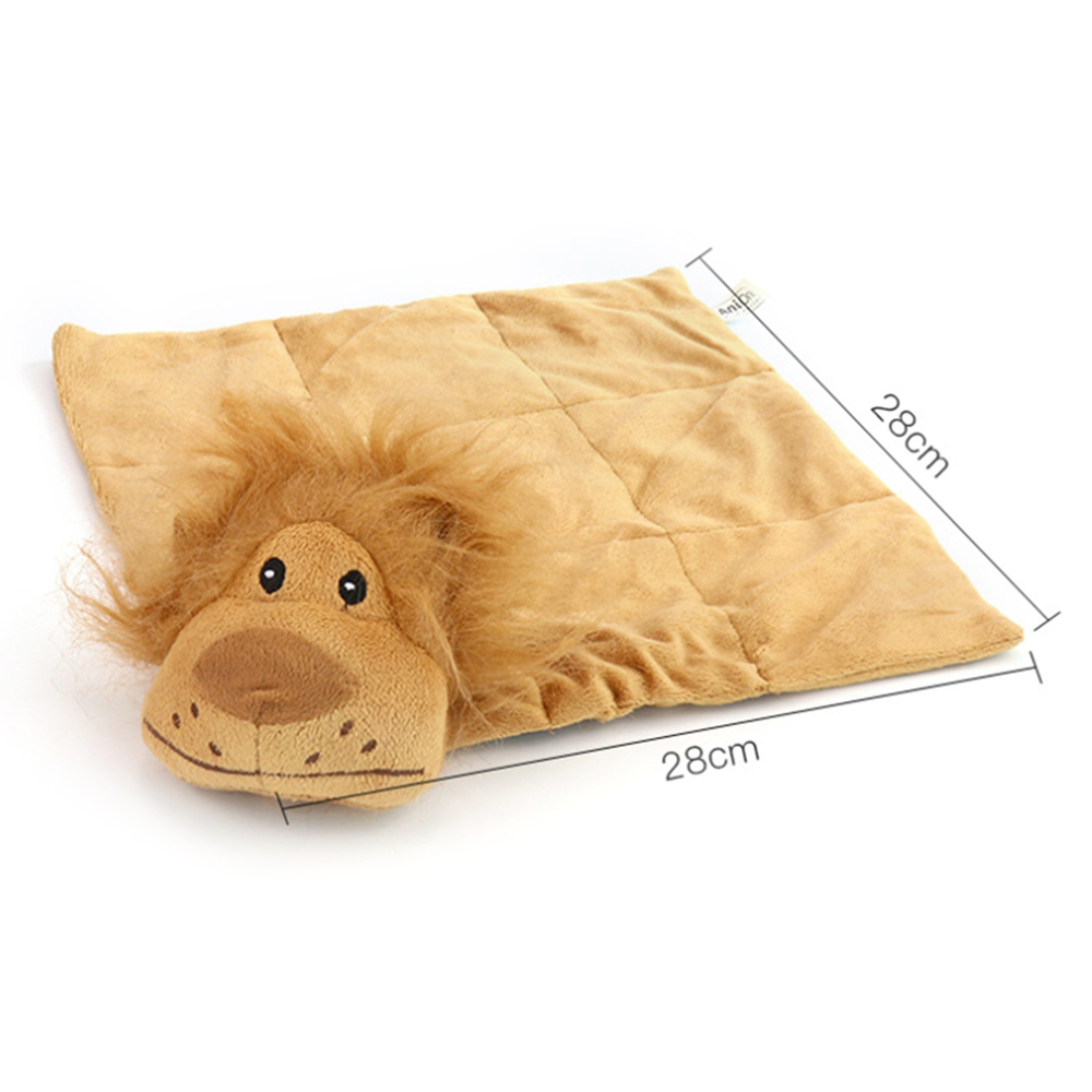 New Pet Cat Teasing Cat Squeaky Lion/Tiger Head Plush Pad Sizzling Pet Dogs Cats Interactive Scratch-resistant Toy