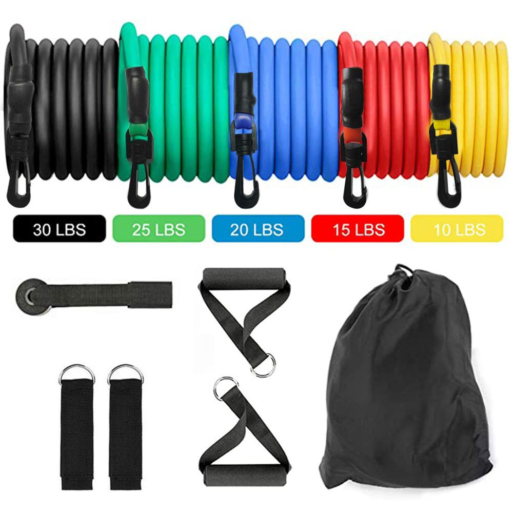 New Hot Fitness Resistance Bands - Resistance Band Handles Resistance Bands Workout, Exercise Resistance Band Set Dropshipping