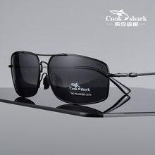 Cook Squalo 2020 degli uomini Occhiali Da Sole Occhiali Da Sole Da uomo hipsters di Guida Polarizzatori Occhiali Da Sole Driver Occhiali di Guida