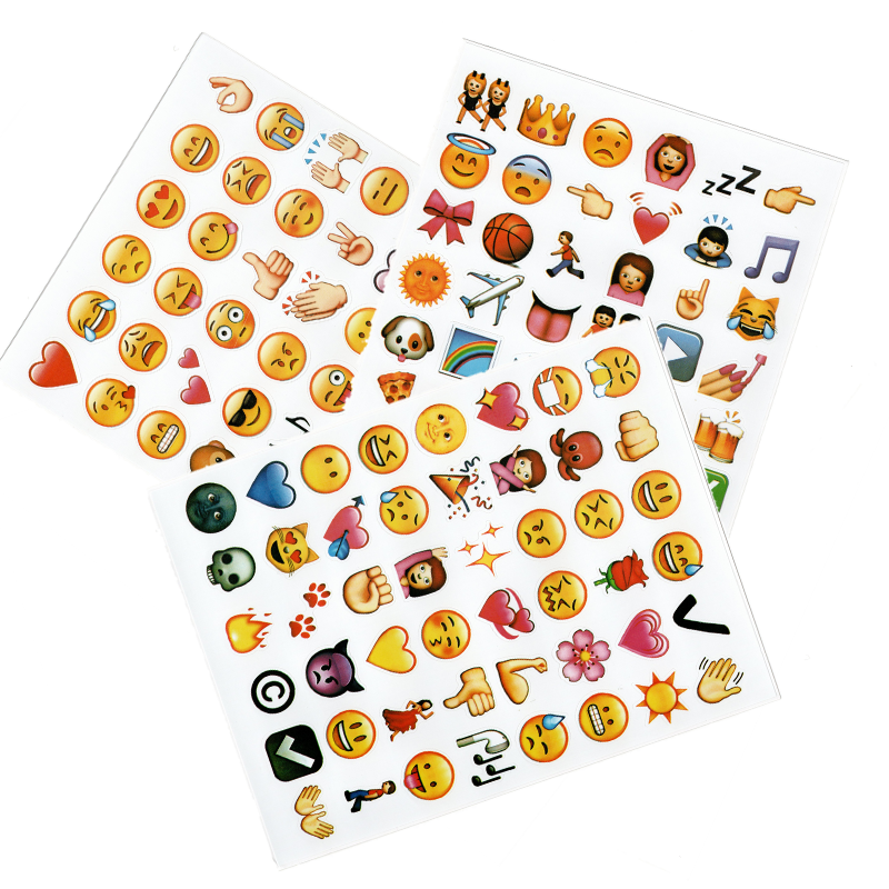 1 Set Cute Smiley Stickers For Kids Children Notebooks Korean Face Stickers Journal Diary Stickers for Office For School 2021