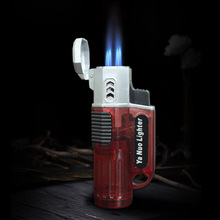 Powerful 4 Nozzles Jet Torch Gas Lighter Windproof Butane Turbo Inflatable Cigar Pipe 1300 C Spray Gun Free Fire
