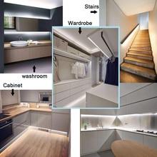 12V adapter 2835 motion sensor light kit Motion sensor LED Night light Bed Cabinet Stairs light  motion sensor light for closets цены