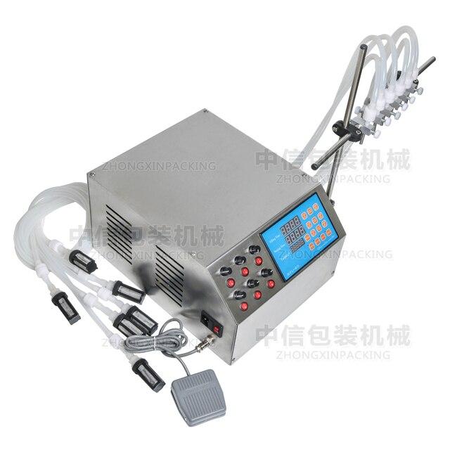Machine de remplissage liquide électrique de pompe de contrôle numérique 3-4000ml pour des bouteilles, bouteilles de parfum, eau remplissante, jus de fruit 6