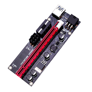 Image 4 - Adaptateur USB 3.0 VER009S PCI E Riser VER 009S Express 1X 4x 8x 16x, carte SATA 15 broches à 6 broches, câble dalimentation 6 pièces/lot
