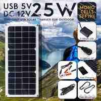 LEORY 12 в 25 Вт 1.2A 420x190x3 мм монокристаллическая Солнечная Панель зарядное устройство набор с задней распределительной коробкой поддержка usb-пор...