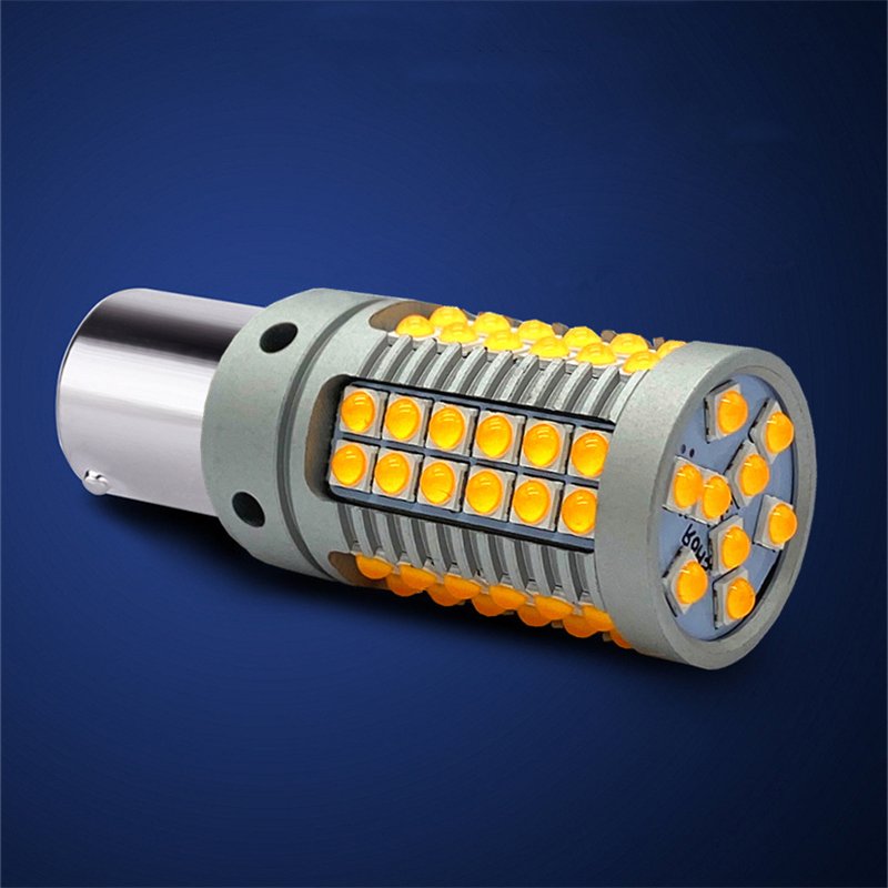 2pcs <font><b>Canbus</b></font> T20 7440 W21W LED Amber Yellow LED Bulbs For Turn Signal Lights Taillight <font><b>1156</b></font> Bau15s Ba15s <font><b>P21W</b></font> PY21W image