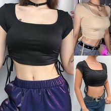 Fashion Women Casual Short Sleeve Tank Tops Vest Body Top T Shirt