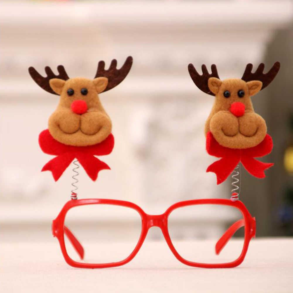 1PCS Bella Di Natale Occhiali Cornice Decorativa Multi-pattern di Natale Babbo Natale Pupazzo di Neve Orso Alce Nuovo Anno Decorazione di Natale Per Bambini bambini