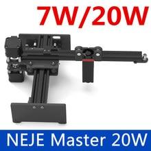 NEJE Master 3500 МВт/6000 МВт/7 Вт/20 Вт высокоскоростной мини ЧПУ лазерный гравер гравировальный станок для металла/дерева маршрутизатор/резак бумаги