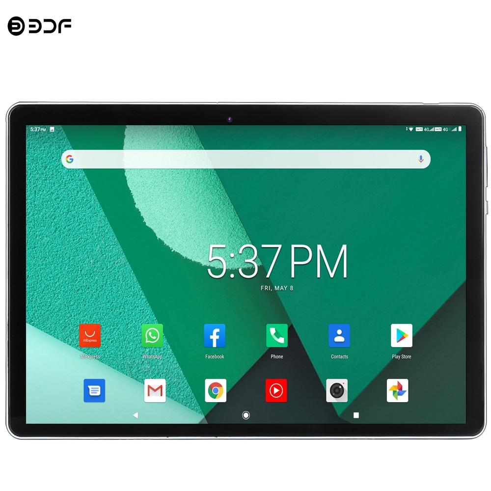 Os recém-chegados 10.1 Polegada 4g lte telefone tablet pc android 9.0 octa núcleo bdf marca dupla 4g sim google play wifi bluetooth gps comprimidos