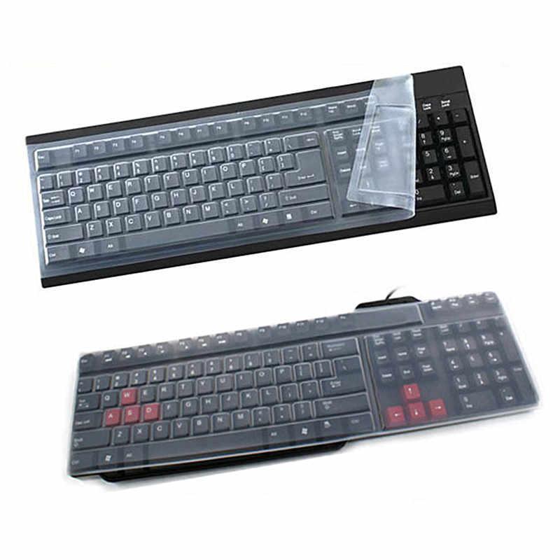 1 PC Universal Silikon Desktop Komputer Keyboard Cover Kulit Pelindung Penutup