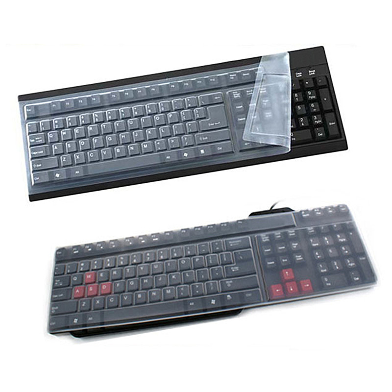 1pc Universal Silicone Desktop Computer Keyboard Cover Skin Protector Film Cover